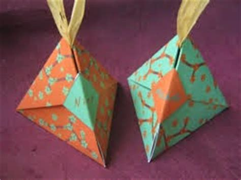 origami wrapping paper gift box origami maniacs origami pyramid wrapping gift box