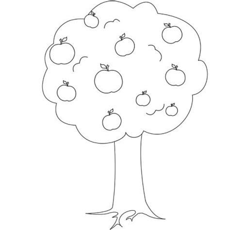 apple tree coloring page printable apple tree 7 nature printable coloring pages