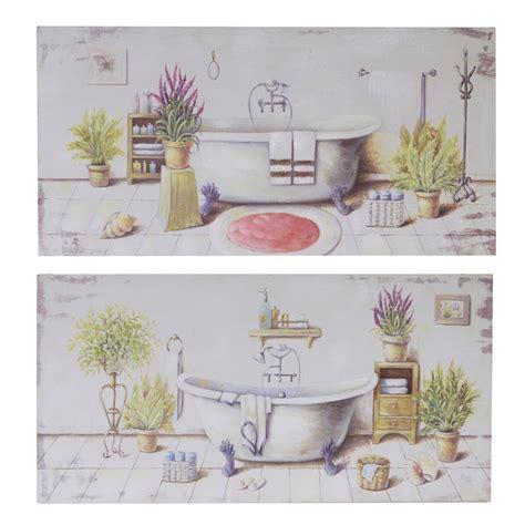 quadri da mettere in bagno set 2 quadri 80x40 vasca da bagno e piante 37646