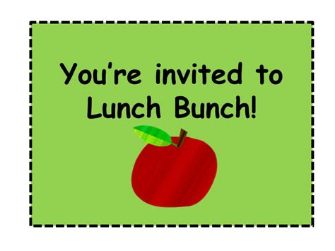lunch pass template lattes laughter lunch bunch