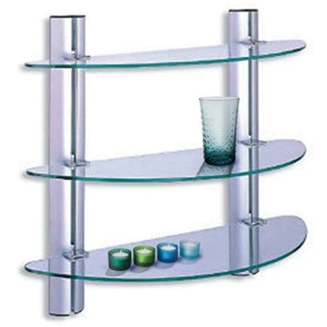 3 tier glass shelf bathroom buy splash 3 tier glass bathroom wall storage shelves