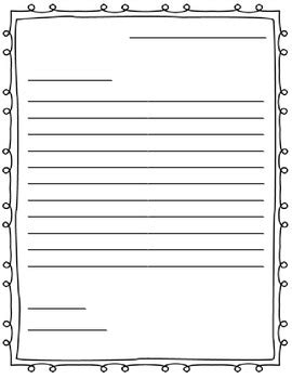 Thank You Letter Template 2nd Grade Free Letter Writing Outline Paper Great For A Friendly Letter School Stuff