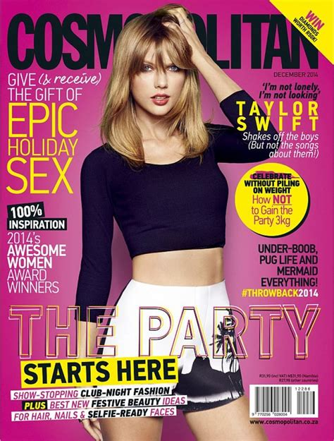 taylor swift on the cover of cosmopolitan magazine south