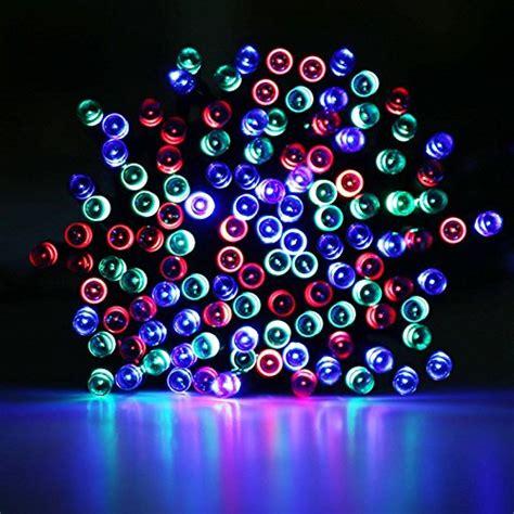 Led Le Solar by Le 174 Solar Powered Led String Lights 100 Leds 55 Ft