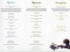 Disney Wedding Brochure Uk by Menu Of Spa Services Spa Spa Services Spa