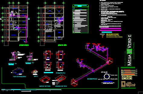 sanitary installation dwg full project  autocad