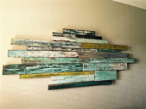Wednesdays wall art from reclaimed pallet wood 1001 pallets