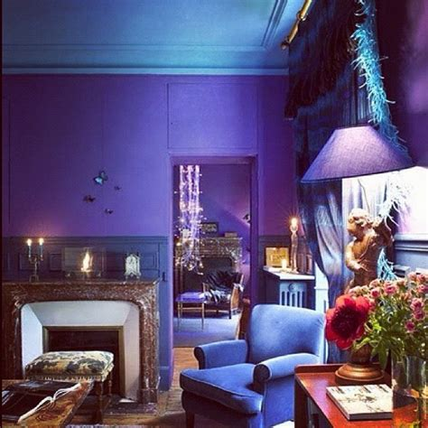 purple and blue bedrooms