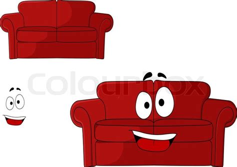 cartoon sofa bed fun cartoon upholstered red couch settee or sofa with a