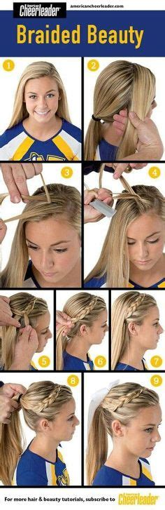 school cheer hairstyles cheerleading hairstyle ideas on cheer hair