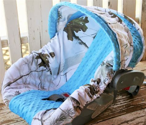 snow camo car seat covers realtree snow camo with teal minky car seat cover and