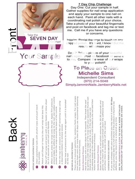 jamberry sle card template 243 best images about val s vip jammers on