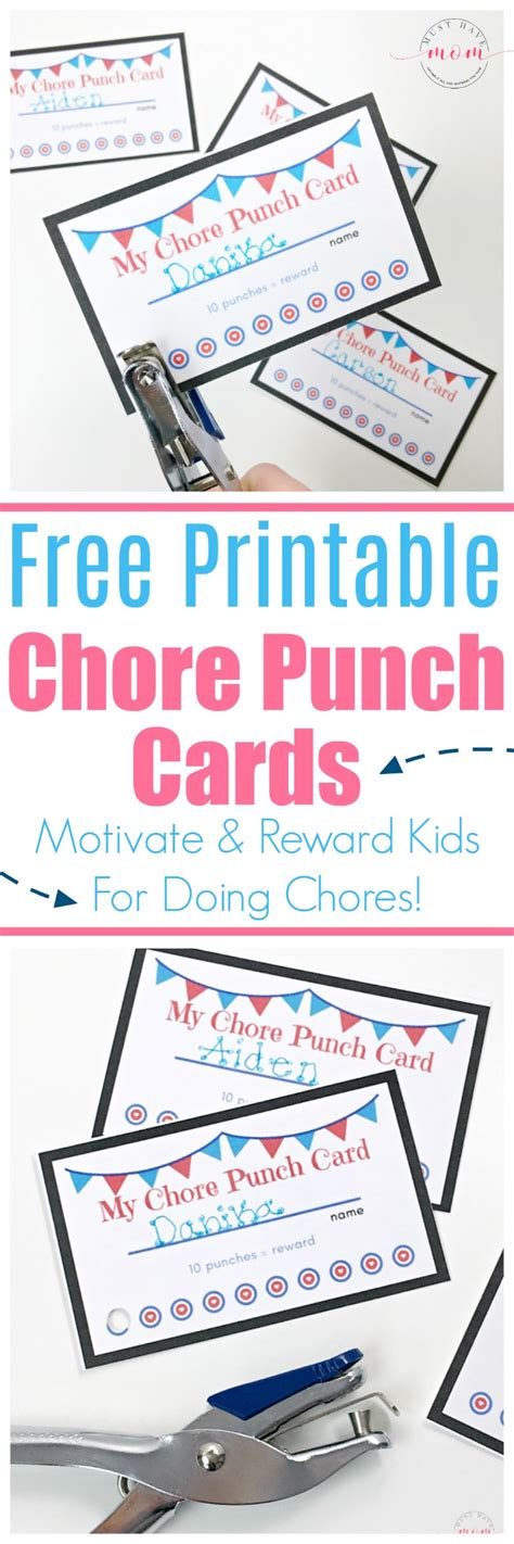 chore punch card template how to get your to do chores without complaining