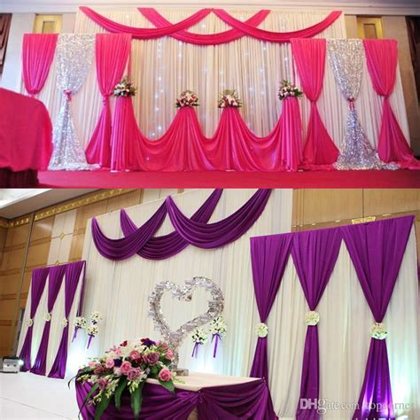 Material Decoration by Church Anniversary Stage Decoration Wedding