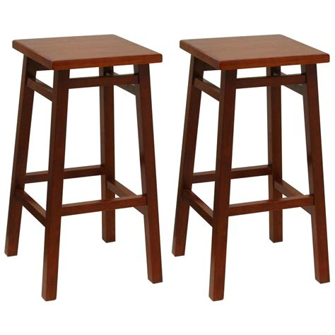 square seat counter stools winsome 174 30 quot walnut finished square seat bar stools set