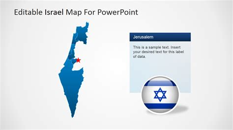 Map Of Israel For Powerpoint Slidemodel Israel Powerpoint Template