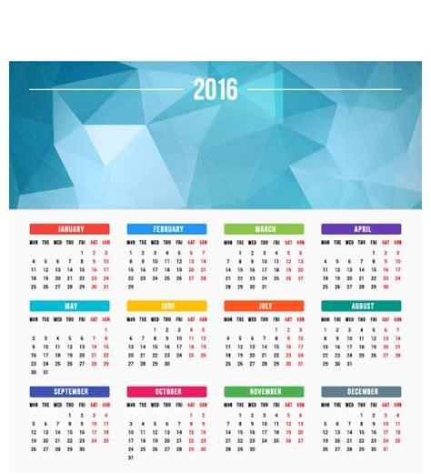 calendar design eps 2016 company calendar creative design vector 10 vector