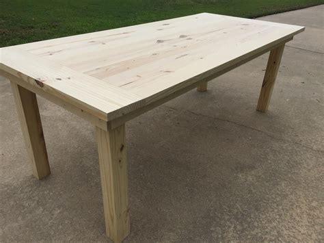 easy farmhouse table plans simple farm table buildsomething com