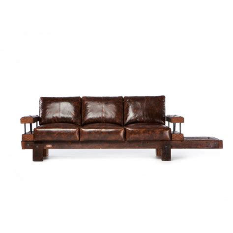 high street sofa shops derby reclaimed oak and leather sofa by oldsoul reclaimed