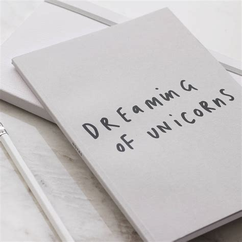 Unicorn A5 Notebook dreaming of unicorns a5 notebook by company