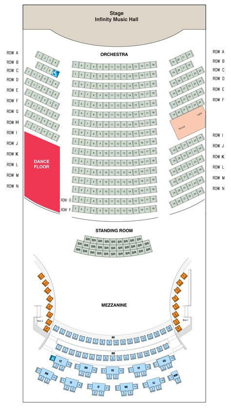 seating chart infinity hall hartford