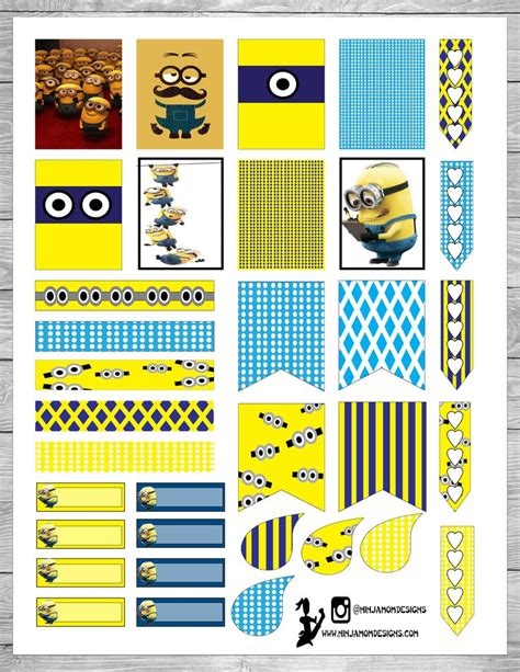 printable stickers minions free printable minions planner stickers at ninjamomdesigns