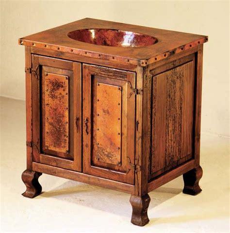Western Bathroom Vanity Copper Sink Cabinet With 2 Doors Western Bath Vanities Free Shipping