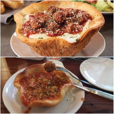 olive garden meatball pizza bowl aka mini meatball pizza