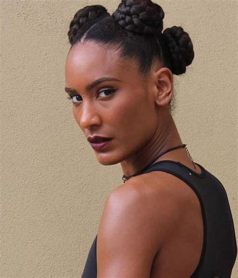 pics of braided bun for black women 45 easy and showy protective hairstyles for natural hair