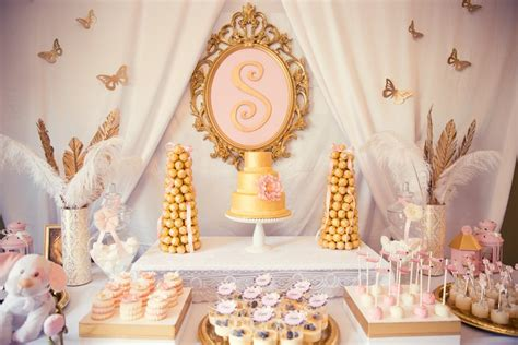 Pink And Gold Baby Shower pink and gold baby shower via kara s ideas