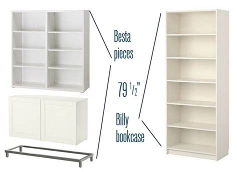 Dresser Bookshelf Combo Besta Billy Amp Brass Bookcases Centsational