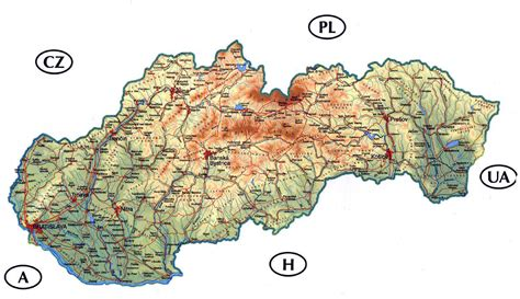 where is slovakia on the world map detailed road and physical map of slovakia slovakia