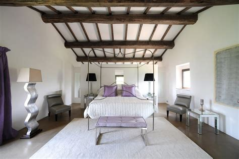 White Ceiling Beams Decorative by White Lilac Bedroom Wooden Ceiling Beams Interior Design