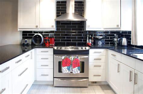 black kitchen backsplash black tile backsplash kitchen contemporary with above