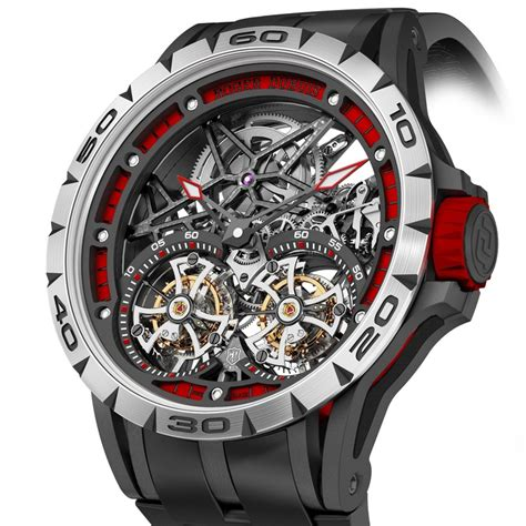 Roger Dubuis Excalibur Dual Tourbillon Black sihh 2015 review roger dubuis excalibur spider flying tourbillon review