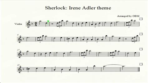 theme music sherlock sherlock irene adler theme violin cover with score by