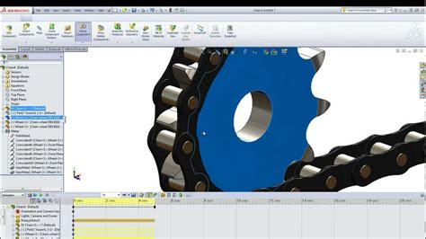 solidworks 2013 tutorial simple animation youtube animated chain in solidworks youtube