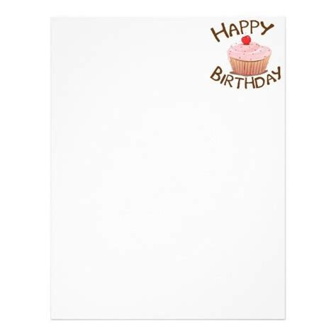 birthday letter template happy birthday flyer templates letter cupcake happy