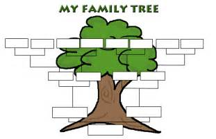 Free Family Tree Template With Pictures by Free Printable Family Tree Template For Children