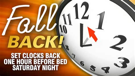 when is day light savings fall back set clocks back one hour before bed saturday