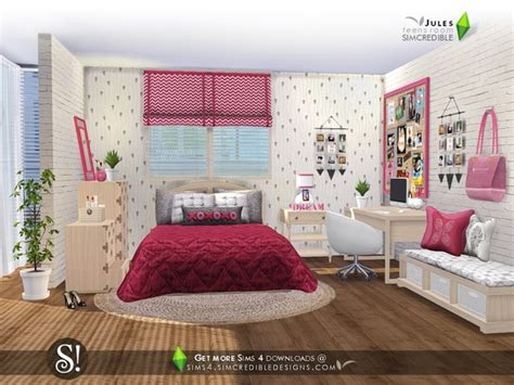 jules bedroom  simcredible  tsr sims  updates