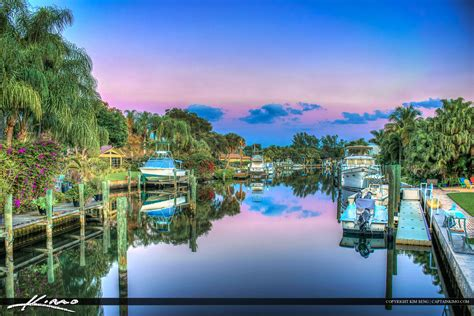 florida waterfront property along canal real estate