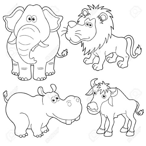 Drawing Wild Animals Pencil Art Drawing Outline Pictures Of Animals For Colouring