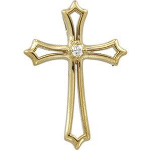 diamond cross pendant 0.015 ct diamond