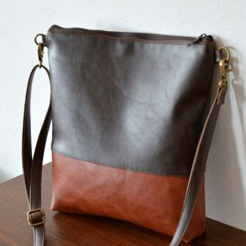 Faux Leather Color Block Pouch reabags on wanelo