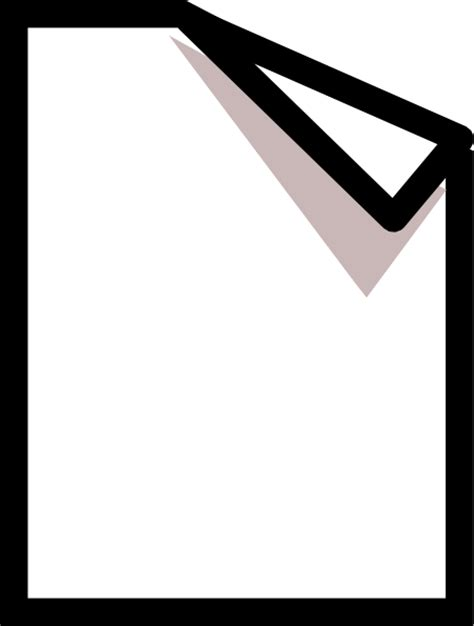 documents clipart paper with corner folded clip at clker vector