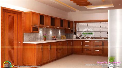 modular kitchen living  bedroom interior kerala home