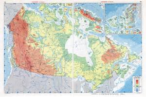 large scale physical map of canada canada large scale