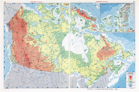 map of canada physical large scale physical map of canada canada large scale
