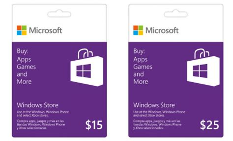 Microsoft 25 Gift Card Windows Store - microsoft now offering gift cards for windows 8 1 and windows phone 8 apps eyeonmobility